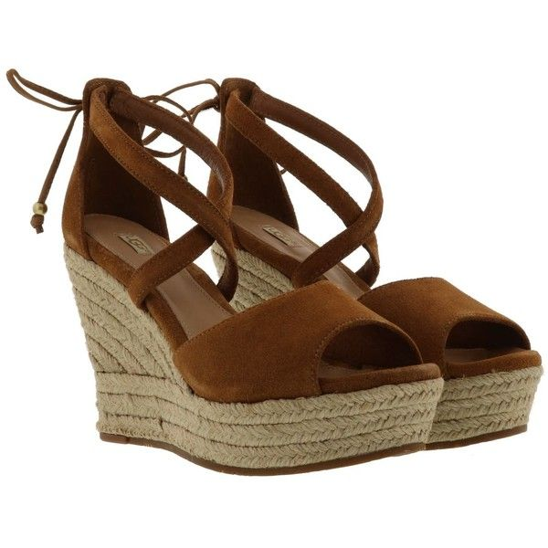 Reagan Wedge Sandals 161 Liked On Polyvore Featuring
