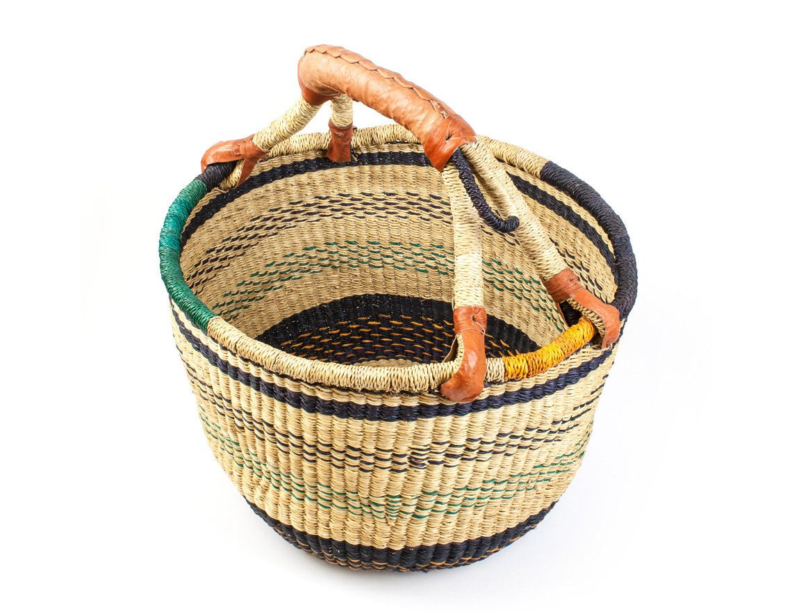 Handgeflochtener Bolgakorb Aus Ghana Ø Ca 34 Cm Etsy
