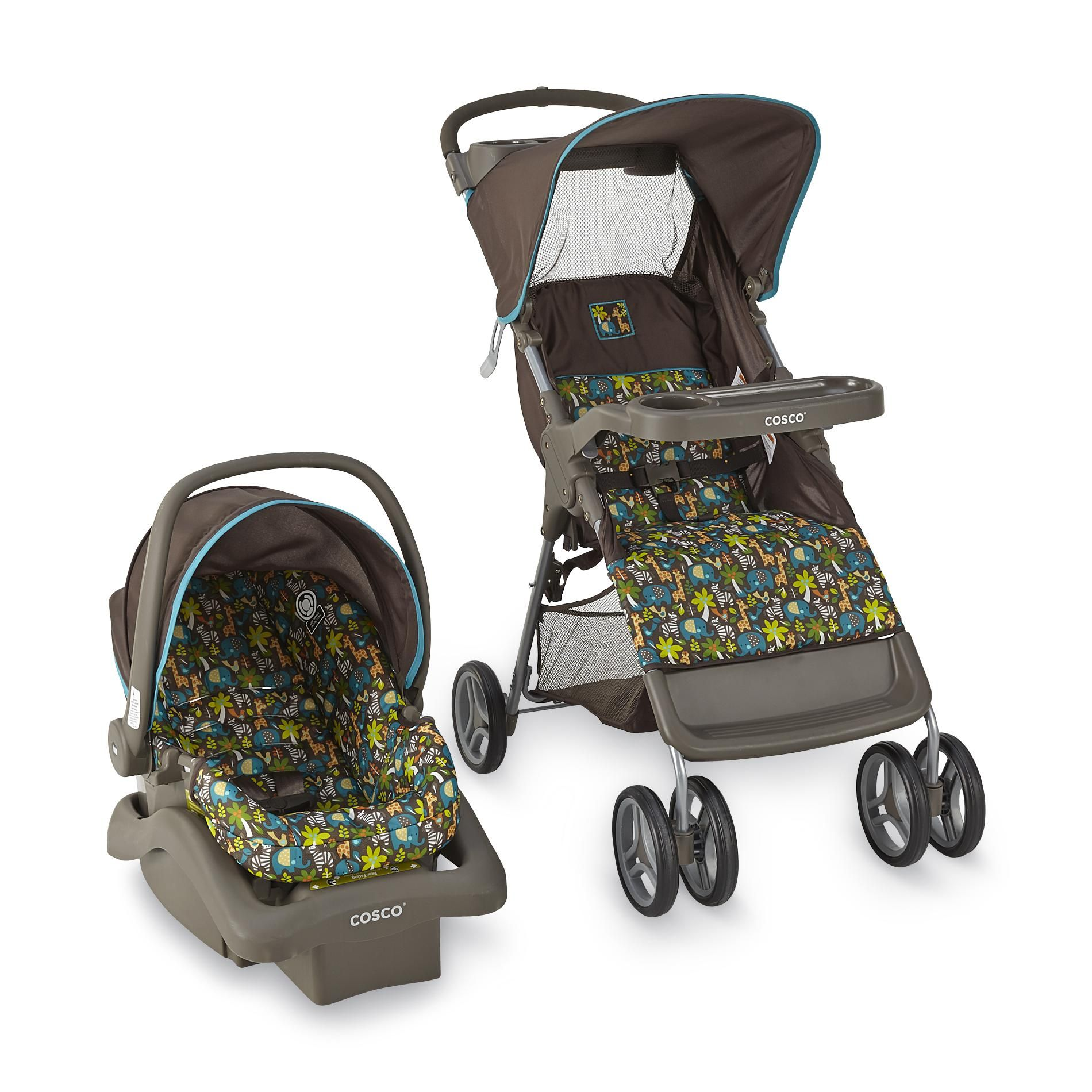 Cosco Infant's Lift & Stroll Travel System Wild Things