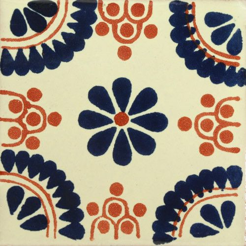 Decorative Tile Designs Traditional Mexican Tile  Madrid Azulterra Cota  Traditional