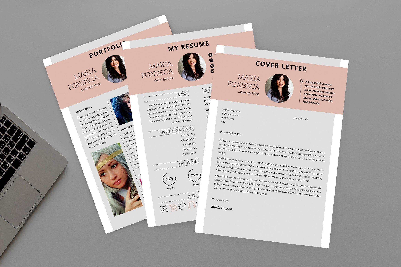 Make up artist resume designer by aqr studio on