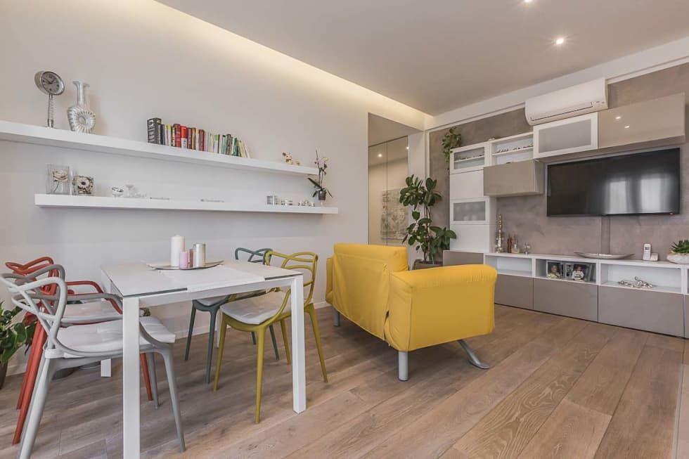 Foto di soggiorno in stile in stile moderno : soggiorno open space ...
