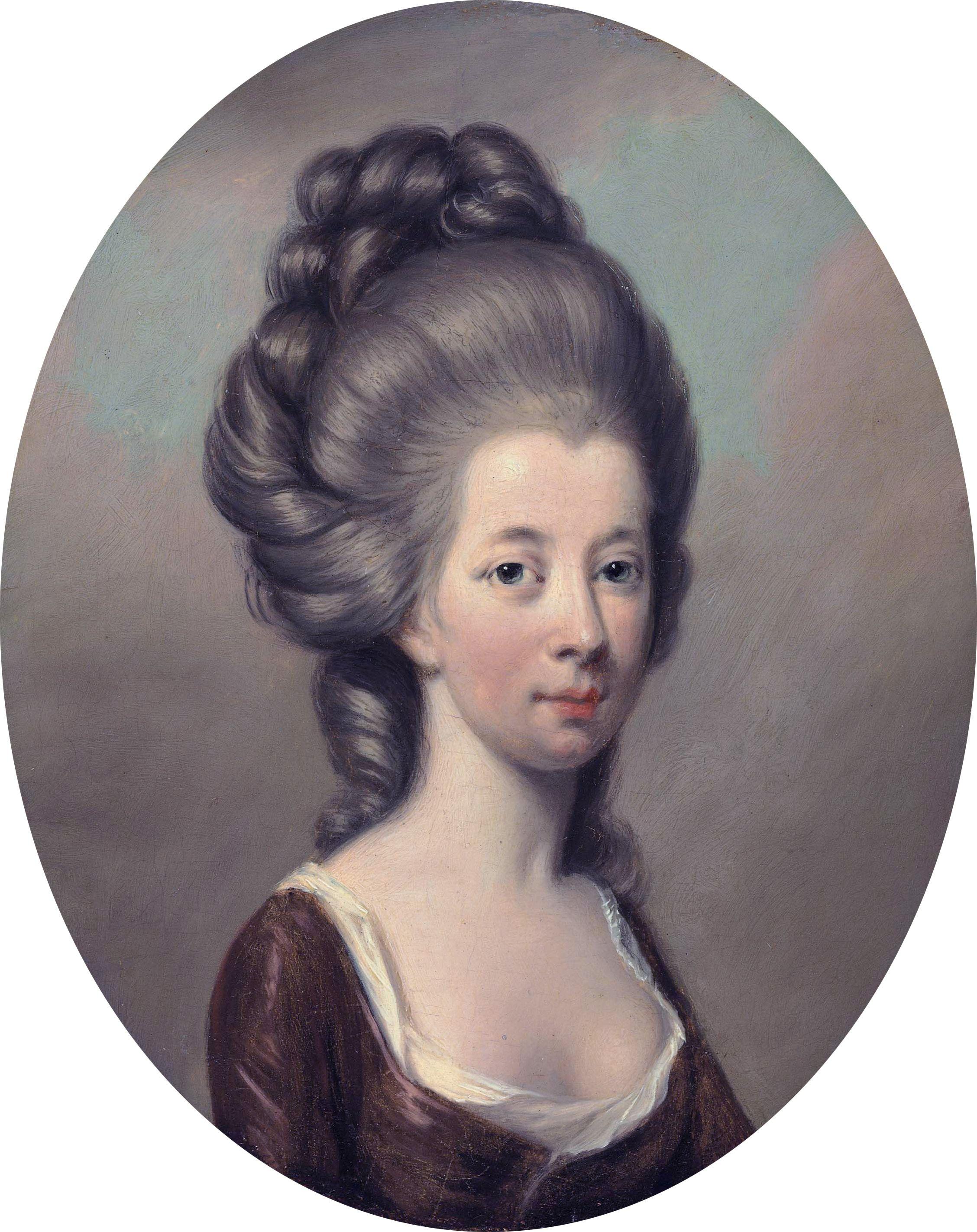 Emilia Olivia St George Duchess Of Leinster By Hugh Douglas Hamilton Auctioned By Christie S Grand Ladies Historische Frisuren Historische Bilder Rokoko