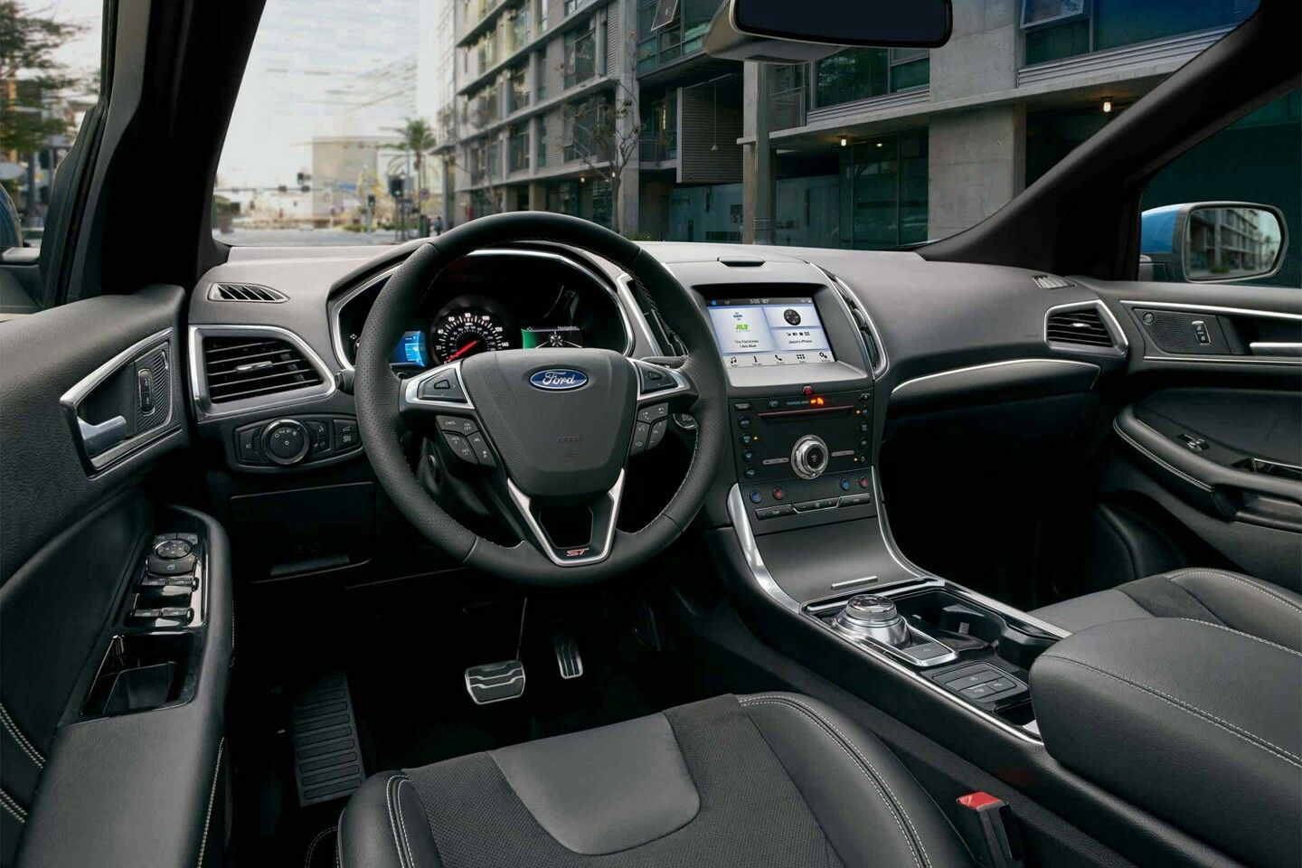Ford Edge St Interior In Ebony Ford Edge Suv Models Ford