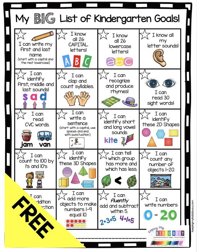 Kindergarten Goal Chart - FREEBIE #ikeakinderzimmer