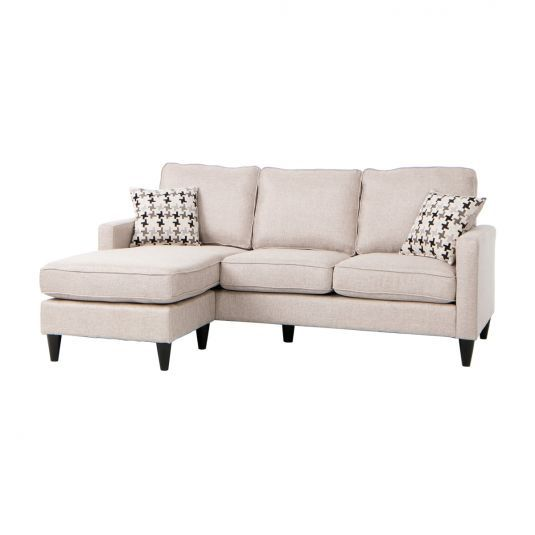 Wondrous Nova Sectional Sofa Chaise In Gray Jeromes Furniture Ncnpc Chair Design For Home Ncnpcorg