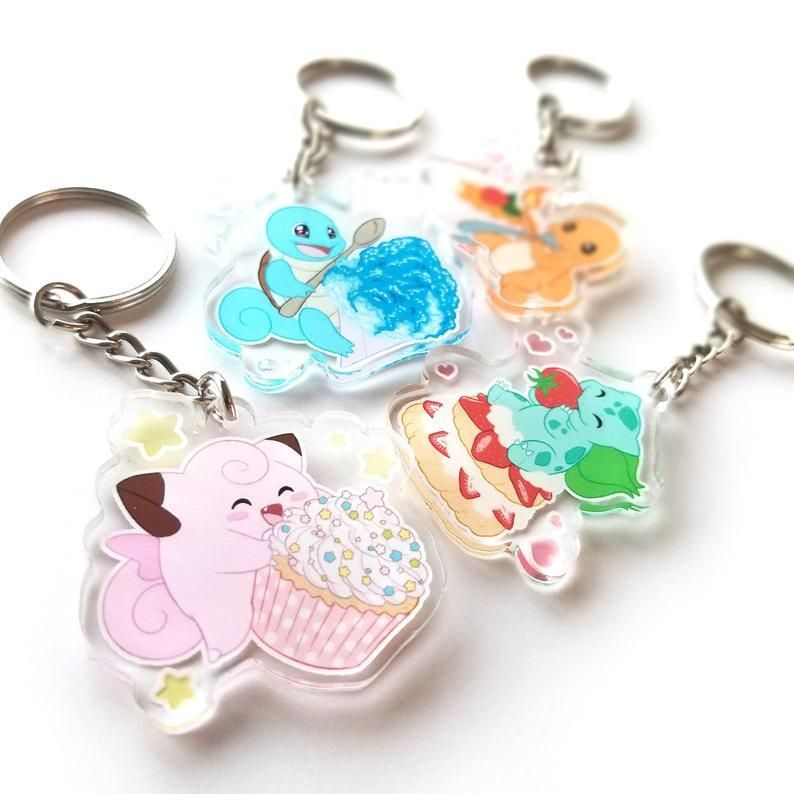 Pokemon Dessert Charms made by Olivier Maranda -