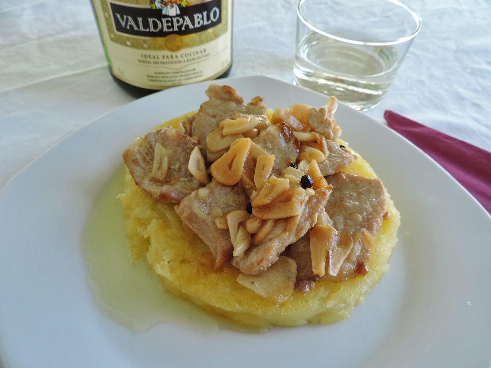 Lomo de cerdo al ajillo. Cocinando con las chachas blog.