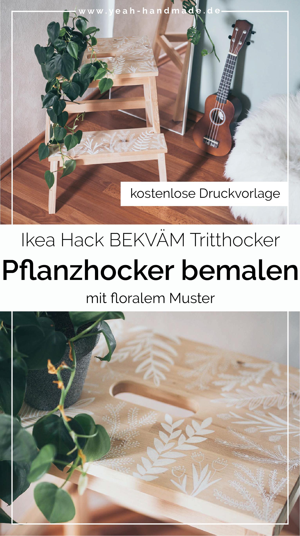 Holz Hocker bemalen