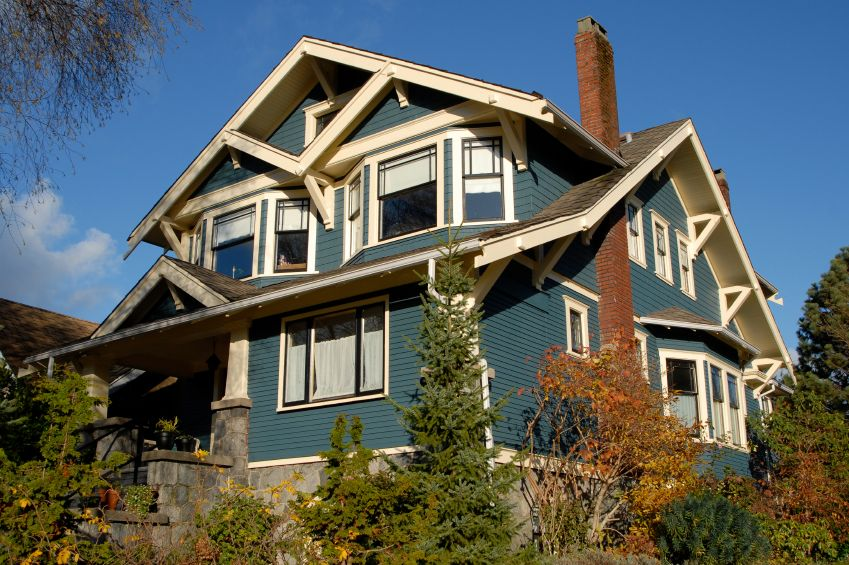 Arts and crafts style homes exterior colors