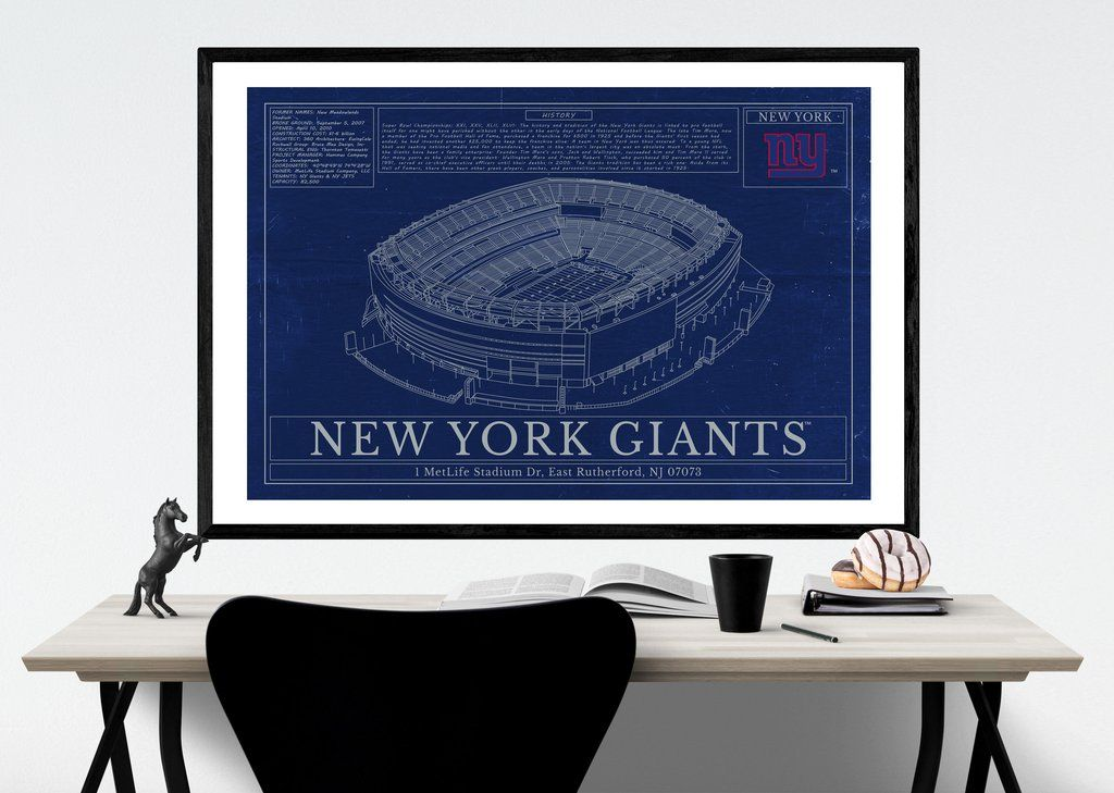Unique nfl stadium blueprint new york giants metlife stadium blueprint art malvernweather Image collections