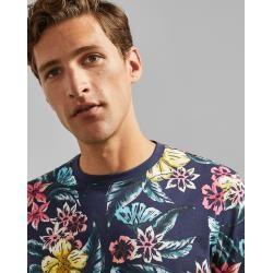 Baumwoll-t-shirt Mit Blumen-print Ted Baker