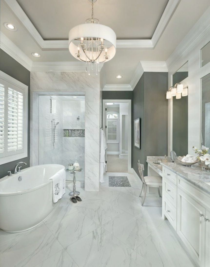 Beautiful Transitional Classical Bathroom 10 Stunning