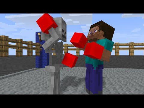 Monster School Boxing Minecraft Animation YouTube Minecraft - Minecraft schone holzhauser