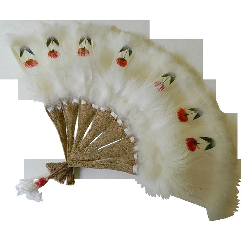 Beautiful hand made Feathered fan
