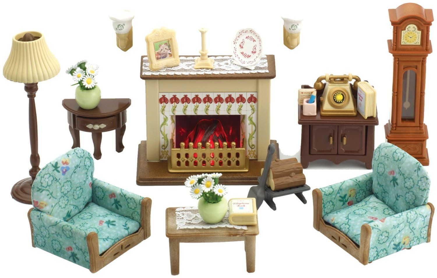 Superbe Amazon Com Sylvanian Captivating Sylvanian Families Living Room Set