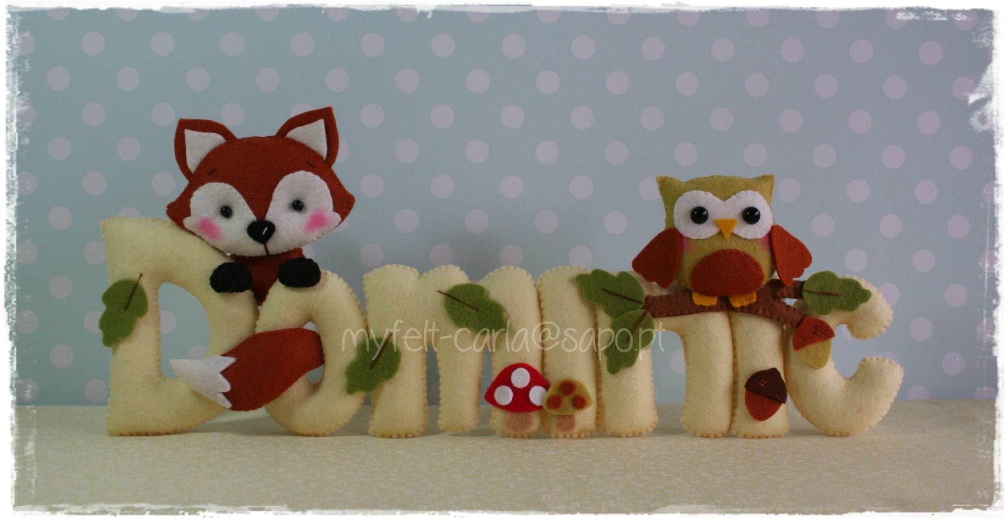 Felt Name Banner Woodland Animals Nursery Decor Birthday Baby Crib