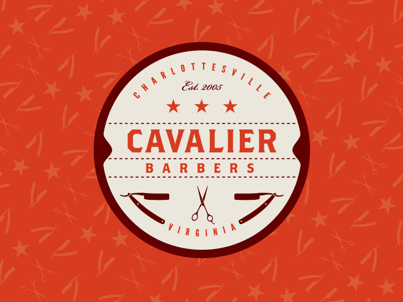 Cavalier Barbers Retro Logo Design Logo Design Vintage Logo Design