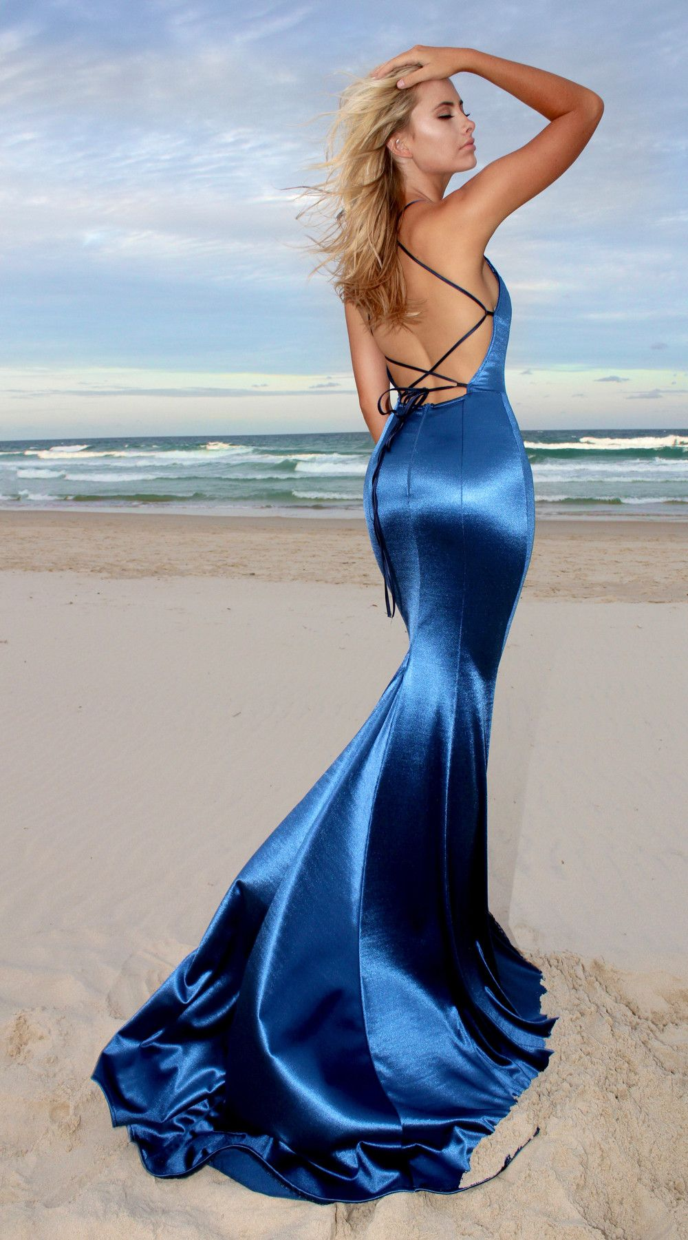 Navy Desire backless prom/ formal dress by STUDIO MINC