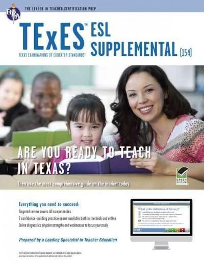 Rea Texes Esl Supplemental Texas Examinations of Educator