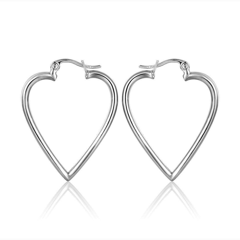 18K Gold Angular Heart Shaped Earrings Made with Swarovksi Elements