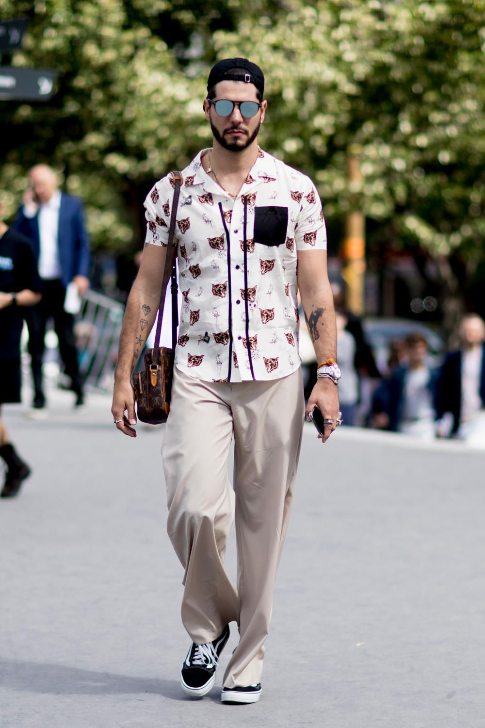 On the street at Paris Men's Fashion Week. Photo: Imaxtree