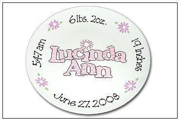 Baby Namesake Personalized Birth Plate  sc 1 st  Pinterest & Baby Namesake Personalized Birth Plate | Ryleigh Jae | Pinterest ...