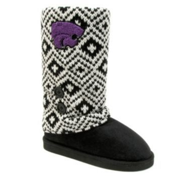outlet clearance Women's Kansas State Wildcats ... Striped Boot Slippers real clearance official site L63PQF