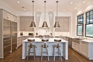 Flying Point Transitional Kitchen New York By Benco - Kitchen center island lighting