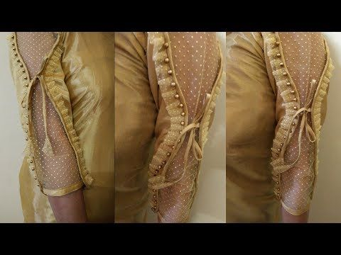 bc29b383faff7 Very Beautiful Sleeves (Baju) Designs Cutting And Stitching For Blouse Suit Kurti Kameez  - YouTube