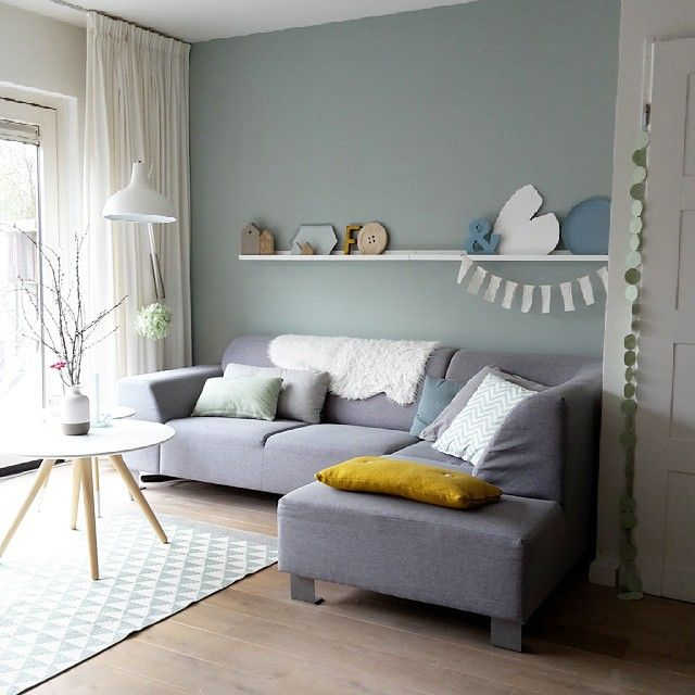 flexa kleur early dew woonkamer moodboard pinterest living