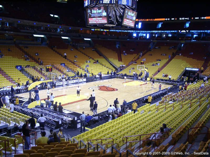 American Airlines Arena Seating Chart  Interactive Seat Map