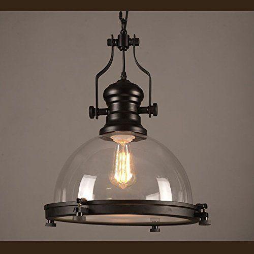 d4134354c05 NIUYAO Industrial Nautical Glass Pendant Light 15.75