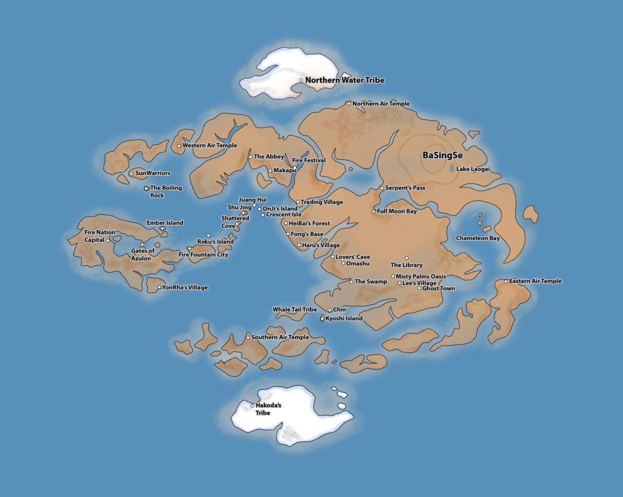 Avatar the Last Airbender Map by duniyadnd.deviantart.com on ...
