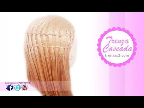 Peinados para cabello corto trenza cascada