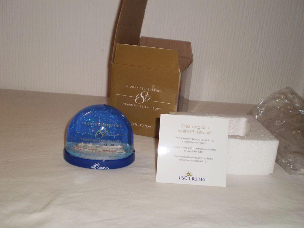 P O Cruises Cruise Ship Nautical Sailing Limited Edition Snowglobe  Collectable cba8e5b4a