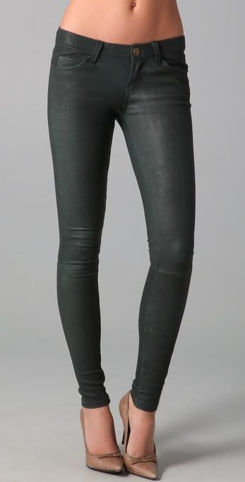 657596f7835bc These leather ankle skinny pants feature 5-pocket styling and a single- button closure. Seam details at knee. 9