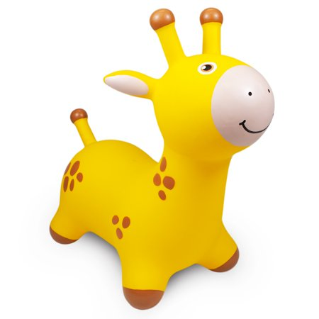 Waddle Giraffe Bouncer Inflatable Ride On Toy Yellow Walmart Com Ride On Toys Giraffe Toy Collection