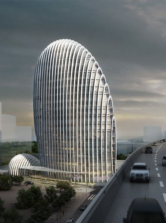 World of Architecture Impressive Modern Office Tower by Aedas