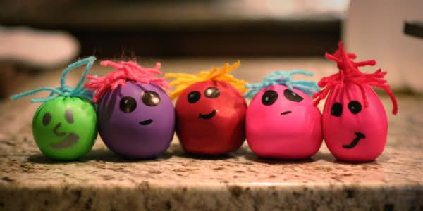how to make stress balls with flour and balloons