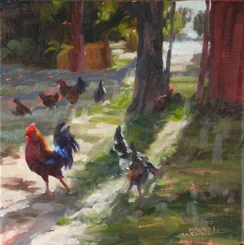 "Original Fine Art For Sale: ""The Morning Strut"""