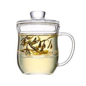 Teetassen Glas mit sieb und deckel 350 ml