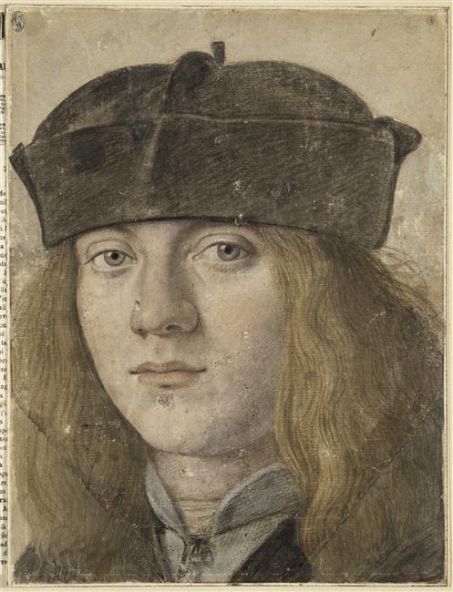 Ecole Milanaise Portrait De Jeune Homme Coiffe D Une Barrette