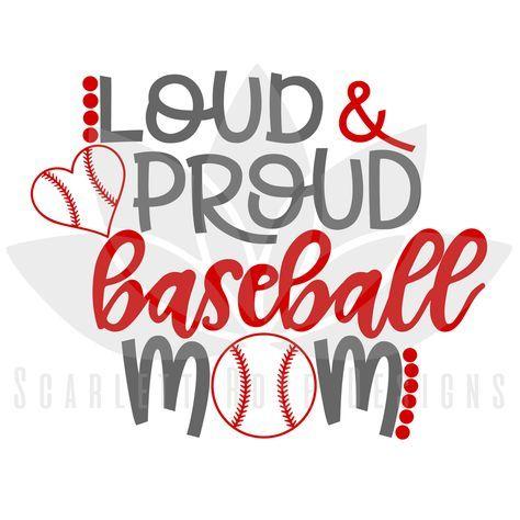 Download Loud and Proud Baseball Mom SVG | Baseball mom, Cute dorm ...