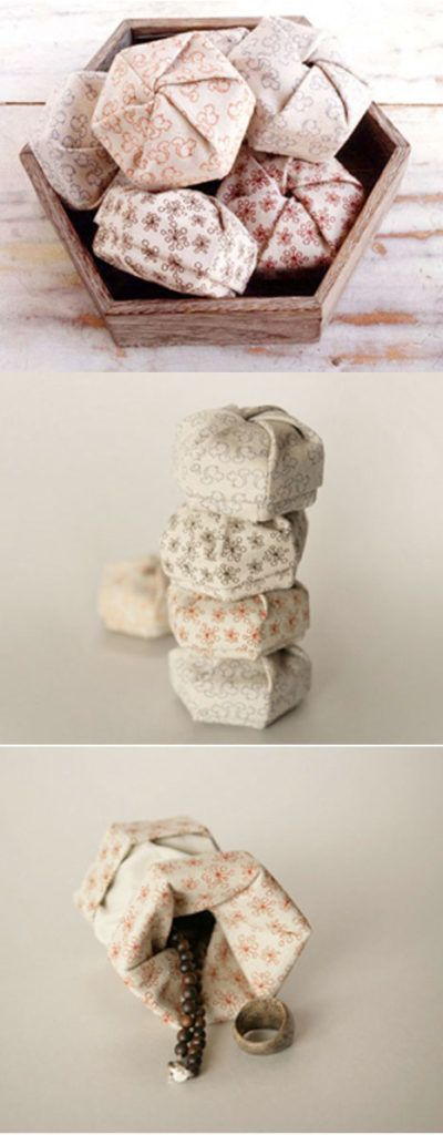 fabric boxes for your treasures | pouch Inspiration ... - photo#38