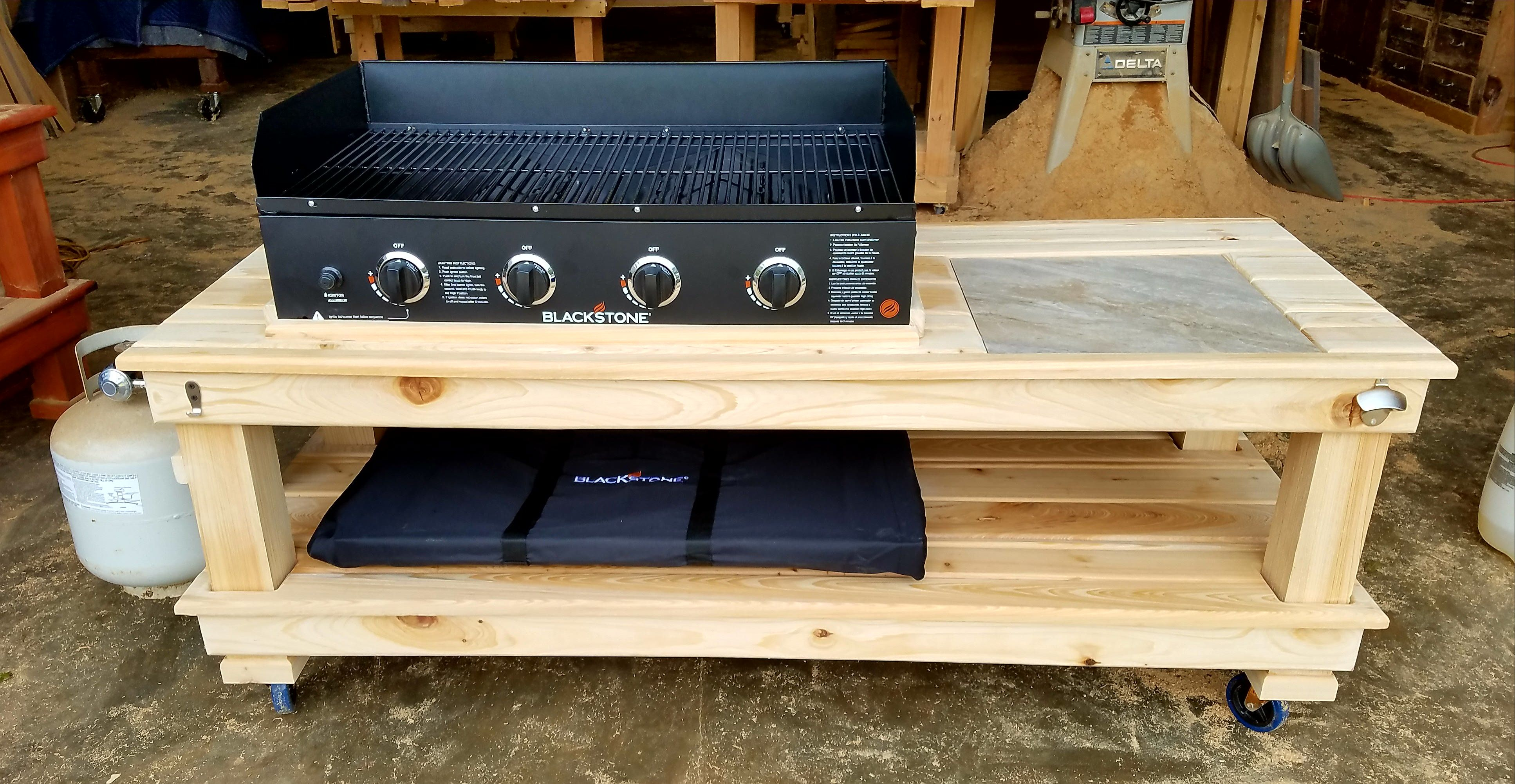 griddle table in 2020  build outdoor kitchen grill table