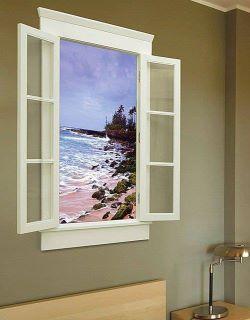 Painted Window Falsche Fenster Fenster Dekor Alte Fenster