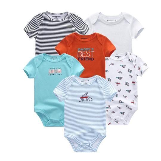3ddb14b030a0e 6 PCS/lot newborn baby bodysuits short sleevele baby clothes O-neck 0- –  eosegal