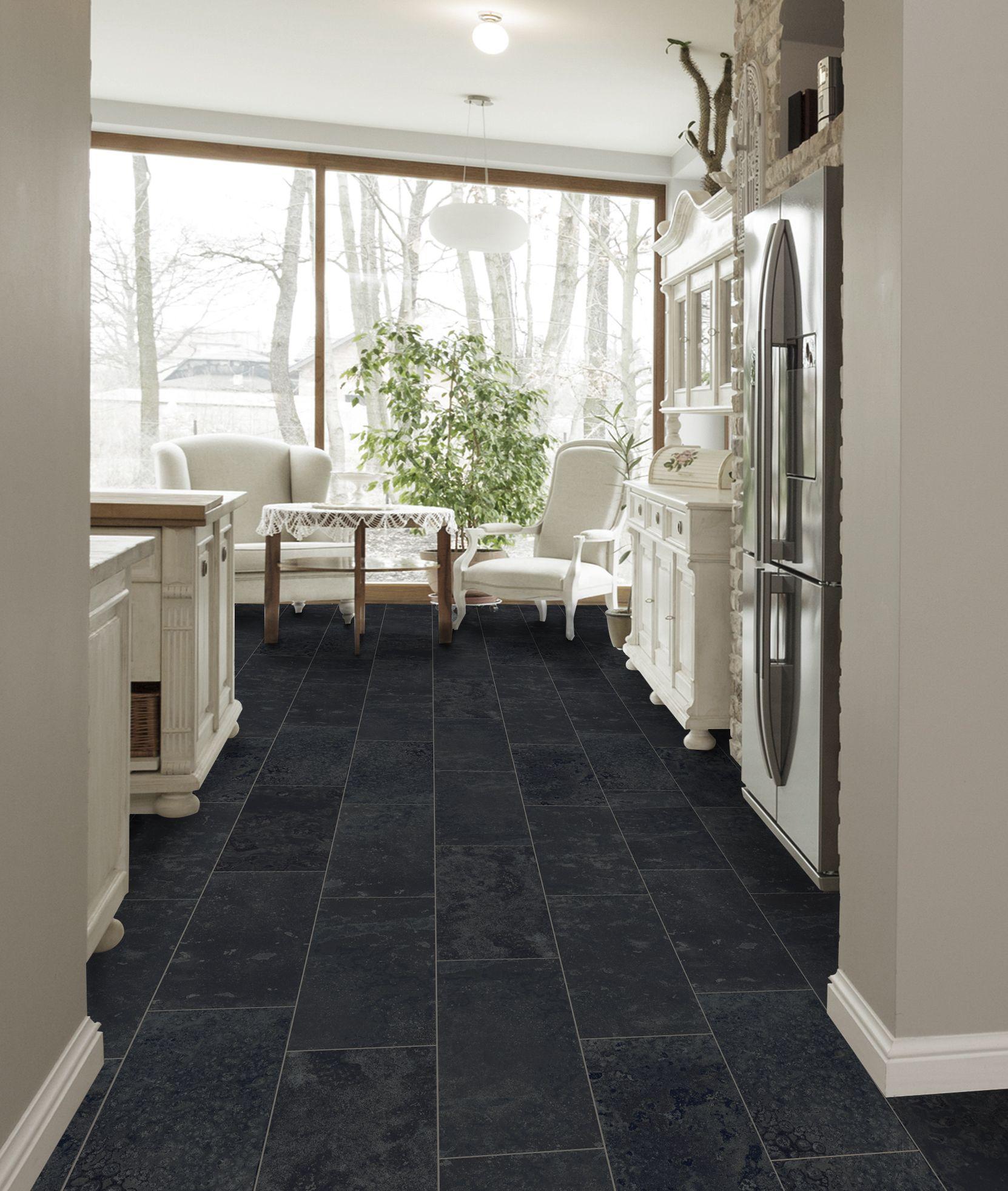 Style Selections Amazon Black 12 In X 24 In Glazed Porcelain Slate Tile Lowes Com White Tiles Black Slate Tiles Black And White Tiles
