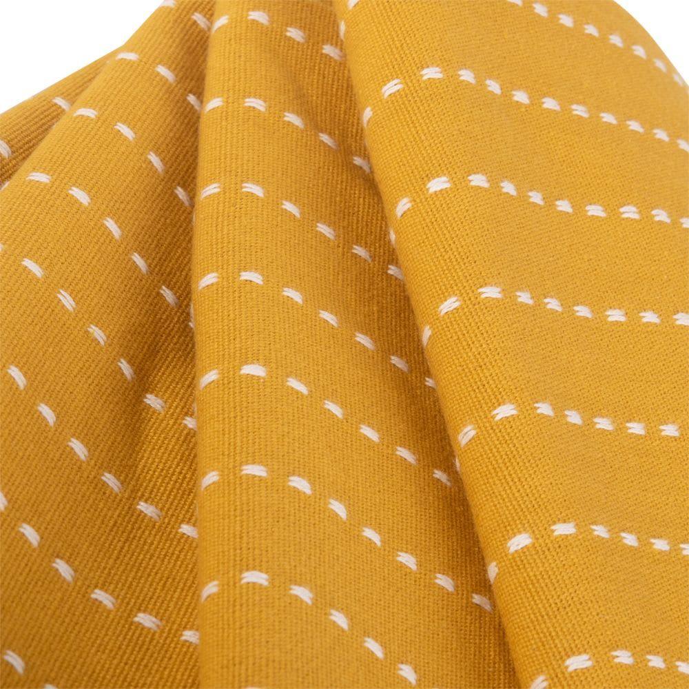 Decke Aus Baumwolle Mit Streifen Gelb 180x240 Gelb Deckchen